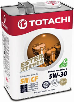 Масло моторное TOTACHI Ultima EcoDrive L Fully Synthetic SN/CF 5W-30 (4л) синт.